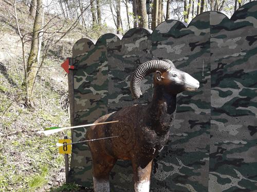 3D Bogenparcours Tier-Ziel